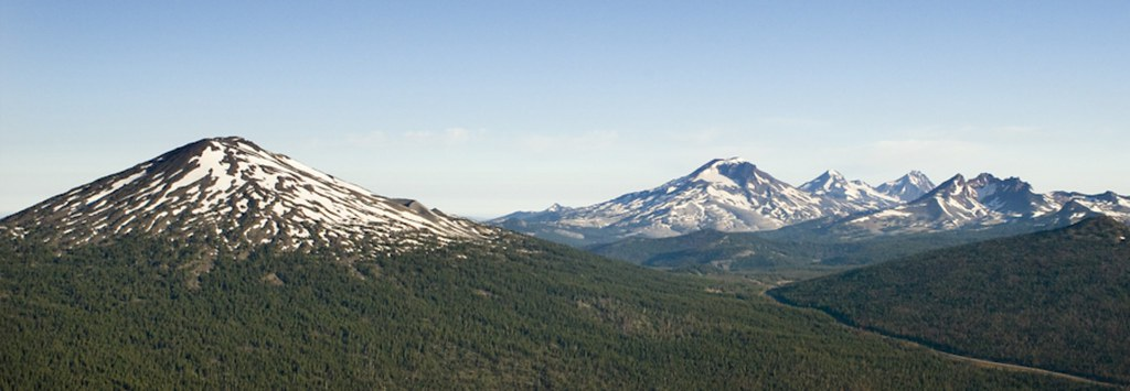 Mt Bachelor with Snow