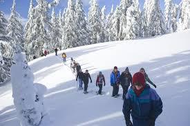Snowshowing Mt Bachelor Bend Oregon