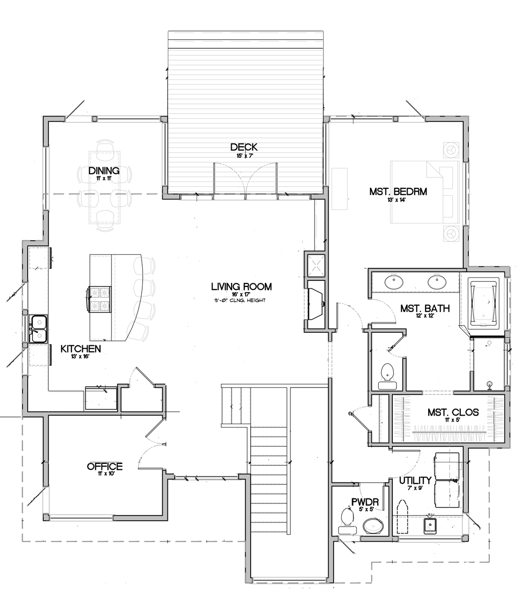 Floor Plan for SW Century Drive, Modern Decor with Urban Twist, Fenced Backyard, Pet Friendly for small dog