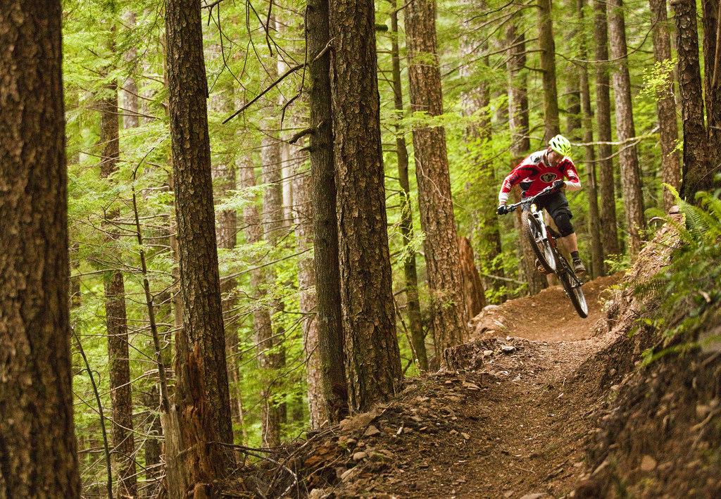 mountain biking trail in central Oregon