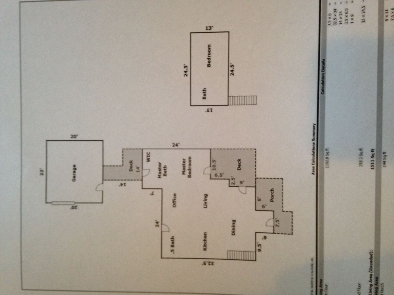 Floor Plan for Downtown Pet Friendly Bend Oregon Vacation Rental Hot Tub Fenced Yard Sleeps 5 Air Conditioner