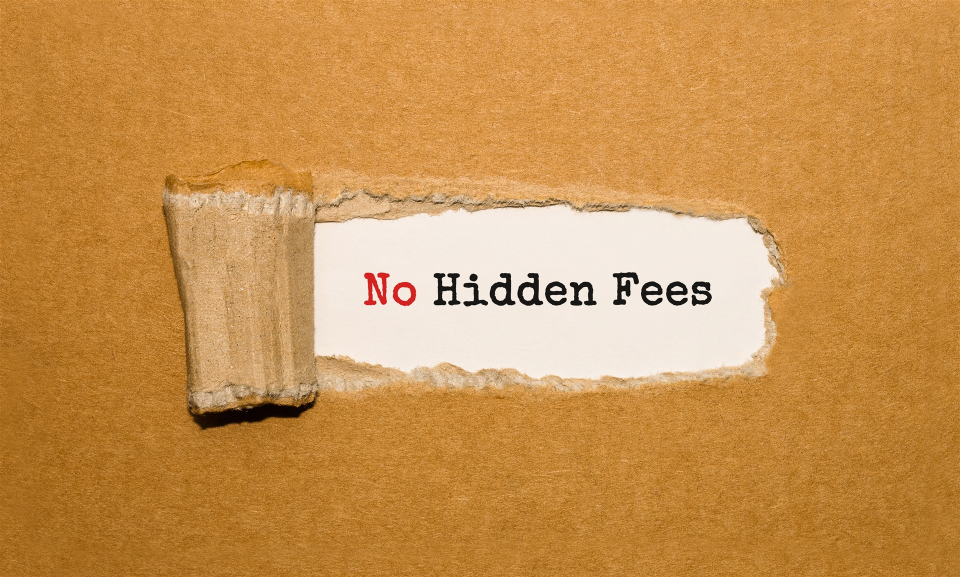 no hidden fees graphic