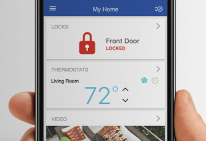 keyless entry and smart devices image of phone