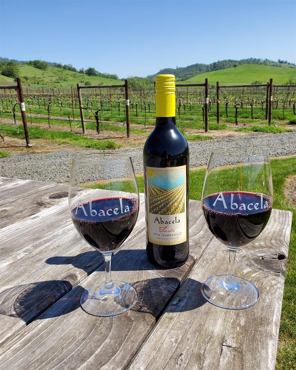 Abacela Wine in the vineyard - Bend Oregon wine welcome gift