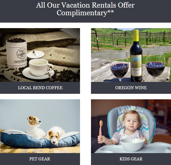 Complimentary Vacation Rental Amenities for Rental Properties