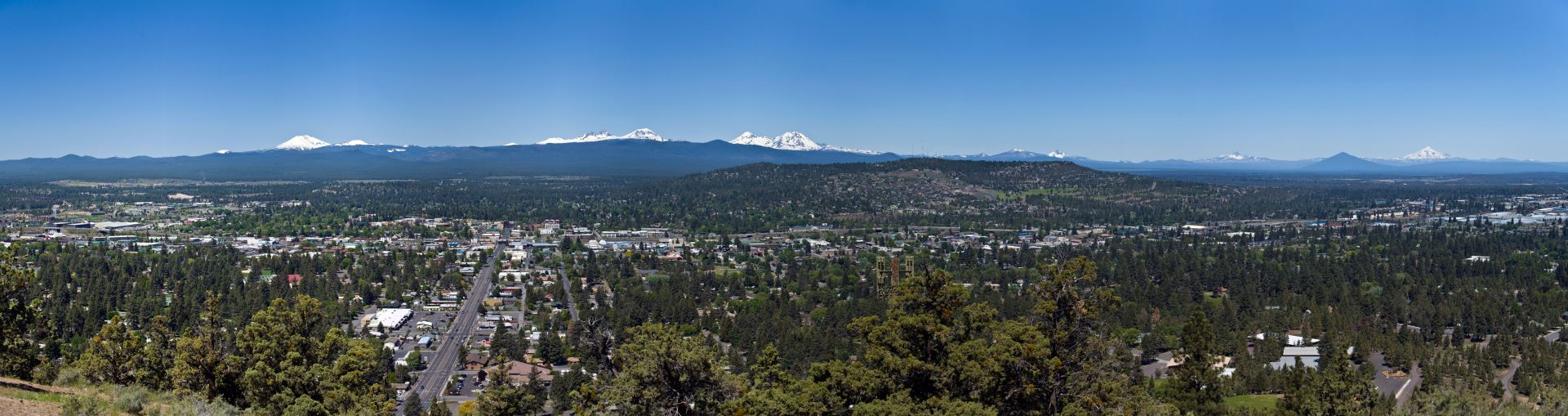 aerial view of Bend Oregon